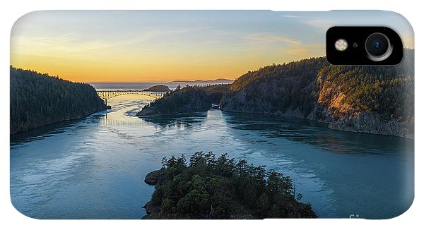 Whidbey iPhone XR Case - Over Deception Pass At Sunset by Mike Reid