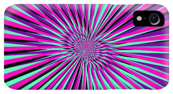 Space iPhone XR Case - Pyschedelic Pink & Purple Art by Christiana Mustion