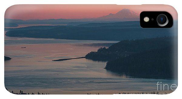 Whidbey iPhone XR Case - Skagit Bay And Mount Rainier Sunset by Mike Reid