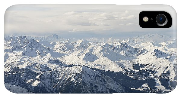 Rocky Mountain iPhone XR Case - Snow Covered Alps Mountains Aerial View by Ivan Aleshin