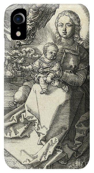 Albrecht Durer iPhone XR Case - The Madonna Crowned By An Angel, 1520  by Albrecht Durer