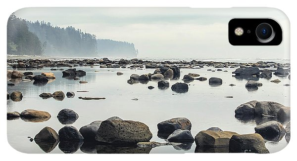 Rocky Mountain iPhone XR Case - Tranquil Sea Water Surface Landscape by Anton Bielousov