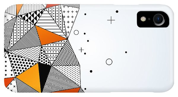Space iPhone XR Case - Triangle Pattern Background. Vector by Kotoffei