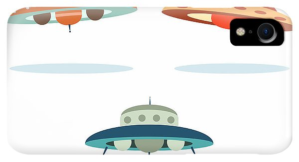 Space iPhone XR Case - Ufo Alien Space Ships by Oculo