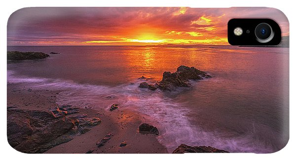 Whidbey iPhone XR Case - Washington Coast Sunset Serene Evening by Mike Reid