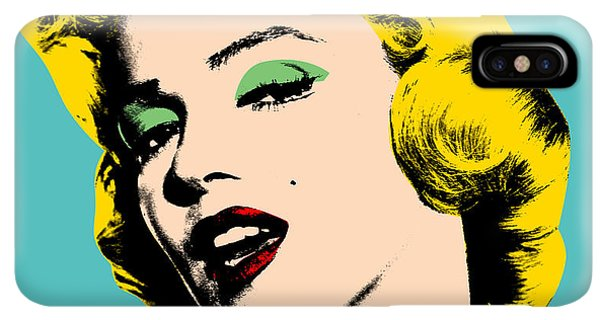 Abstract iPhone XS Max Case - Andy Warhol by Mark Ashkenazi