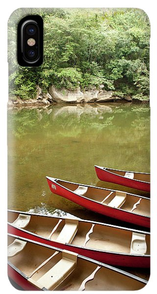 Belize iPhone XS Max Case - Canoeing The Macal River In Jungle Area by Michele Benoy Westmorland