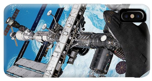 International Space Station iPhone XS Max Case - Cruise Shuttle Docked With The Iss by Nasa/walter Myers/science Photo Library