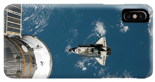 International Space Station iPhone XS Max Case - Endeavour Approaching The Iss by Nasa/science Photo Library