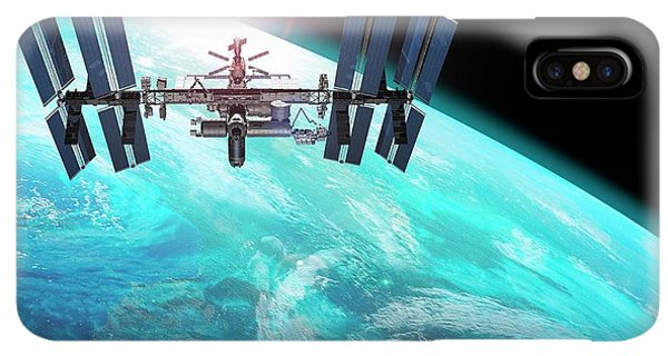 International Space Station iPhone XS Max Case - International Space Station by Carlos Clarivan