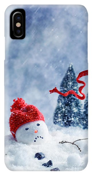 Knit Hat iPhone XS Max Case - Snowman  by Amanda Elwell