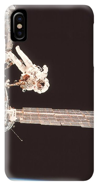 International Space Station iPhone XS Max Case - Iss Space Walk by Nasa/science Photo Library