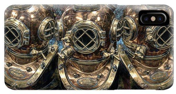Scuba Diving iPhone XS Max Case - 3 Deep-diving Helmets by Daniel Hagerman