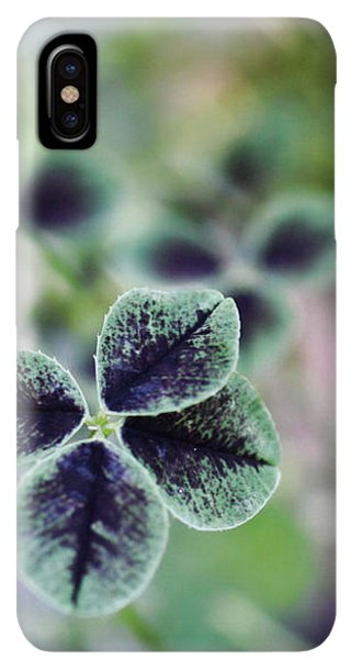 St. Patricks Day iPhone XS Max Case - 4 Leaf Clover by Nancy Ingersoll
