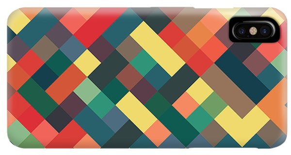 Abstract iPhone XS Max Case - Pixel Art by Mike Taylor