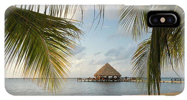 Belize iPhone XS Max Case - A Palapa And Sandy Beach, Placencia by William Sutton