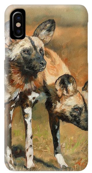 Africa iPhone XS Max Case - African Wild Dogs by David Stribbling