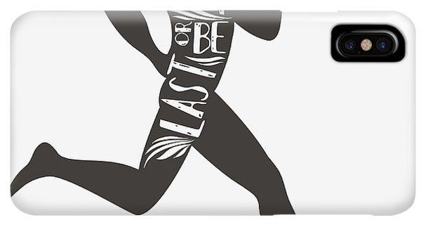 Achievement iPhone XS Max Case - Be Fast Or Be Last. Sportfitness by Svesla Tasla