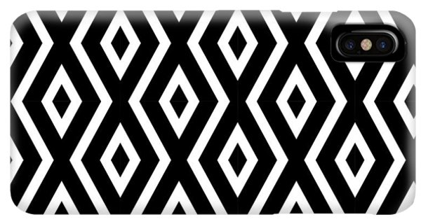 Abstract iPhone XS Max Case - Black And White Pattern by Christina Rollo