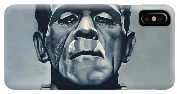 The iPhone XS Max Case - Boris Karloff As Frankenstein  by Paul Meijering