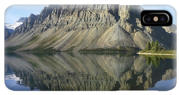 Rocky Mountain iPhone XS Max Case - Bow Lake And Crowfoot Mts Banff by Tim Fitzharris