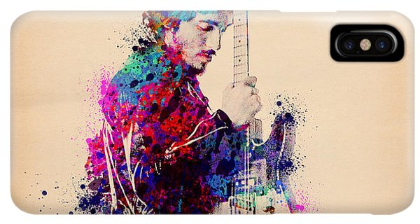 The iPhone XS Max Case - Bruce Springsteen Splats And Guitar by Bekim M