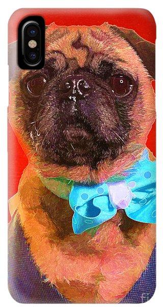 Pug iPhone XS Max Case - Colorful Dapper Pug by Edward Fielding