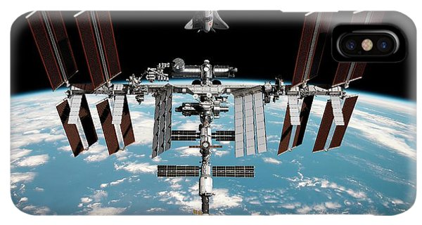 International Space Station iPhone XS Max Case - Cruise Shuttle Rendezvous With The Iss by Nasa/walter Myers/science Photo Library