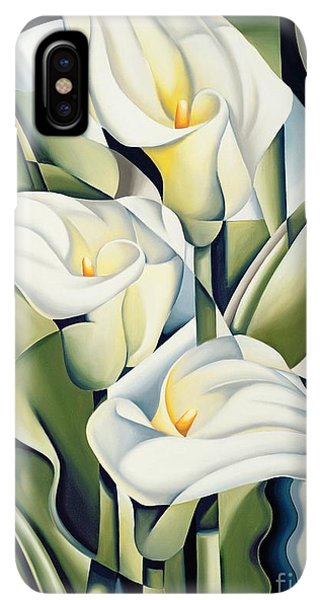 Abstract iPhone XS Max Case - Cubist Lilies by Catherine Abel