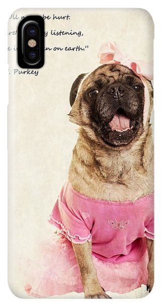Pug iPhone XS Max Case - Dance Like There's Nobody Watching by Edward Fielding