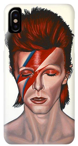 iPhone XS Max Case - David Bowie Aladdin Sane by Paul Meijering