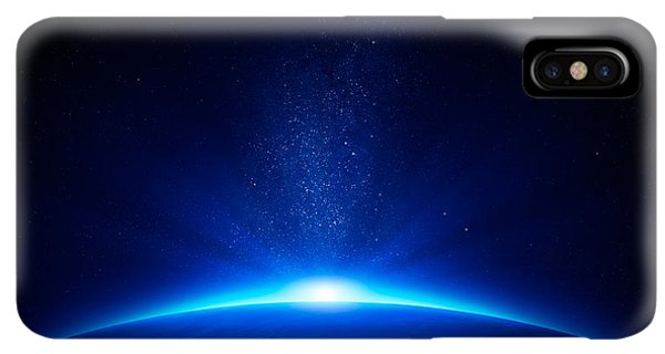 Abstract iPhone XS Max Case - Earth Sunrise In Space by Johan Swanepoel