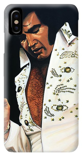 The iPhone XS Max Case - Elvis Presley Painting by Paul Meijering