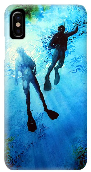 Scuba Diving iPhone XS Max Case - Exploring New Worlds by Hanne Lore Koehler