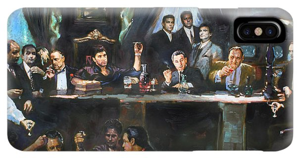 The iPhone XS Max Case - Fallen Last Supper Bad Guys by Ylli Haruni