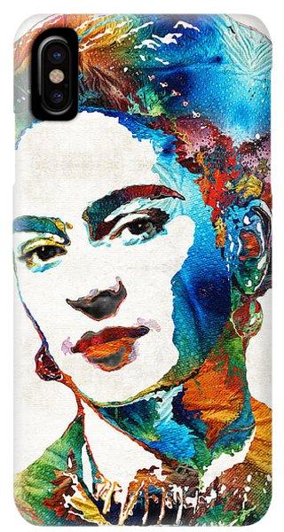 The iPhone XS Max Case - Frida Kahlo Art - Viva La Frida - By Sharon Cummings by Sharon Cummings