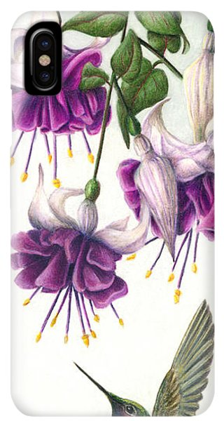 Humming Bird iPhone XS Max Case - Fuchsia Beauty by Pat Erickson