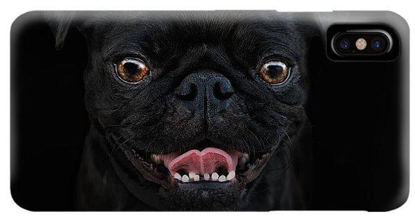 Pug iPhone XS Max Case - Gimme A Smile by Joachim G Pinkawa