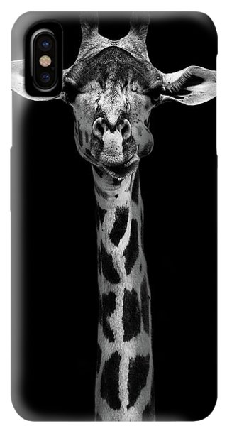 Africa iPhone XS Max Case - Giraffe Portrait by Wildphotoart