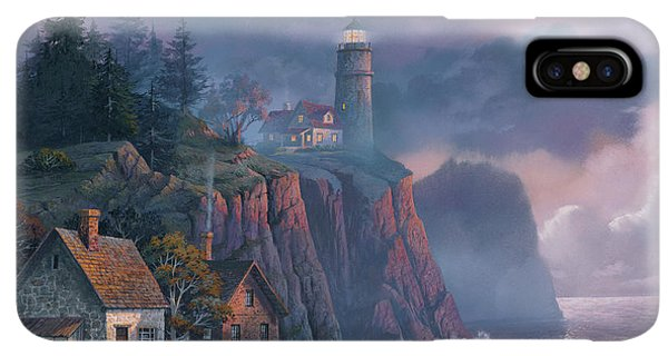 iPhone XS Max Case - Harbor Light Hideaway by Michael Humphries