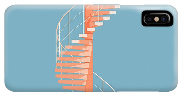 iPhone XS Max Case - Helical Stairs by Peter Cassidy