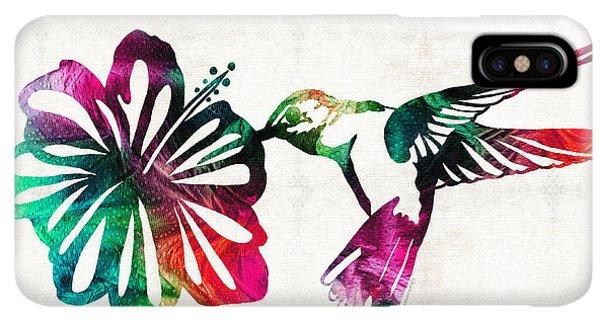 Humming Bird iPhone XS Max Case - Hummingbird Art - Tropical Chorus - By Sharon Cummings by Sharon Cummings