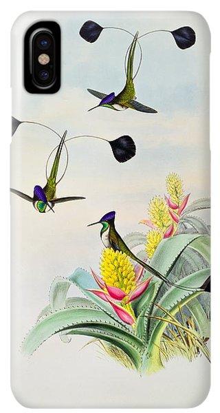 Humming Bird iPhone XS Max Case - Hummingbird by John Gould