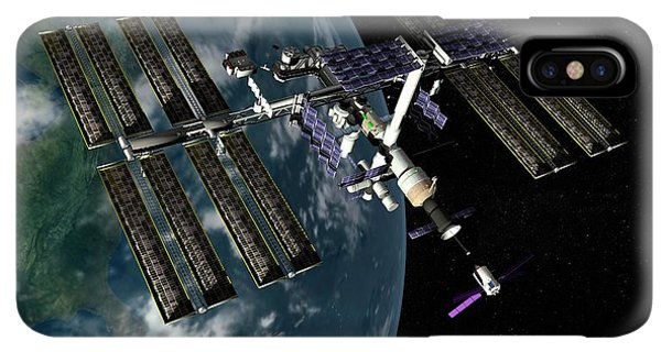 International Space Station iPhone XS Max Case - International Space Station by Paul Wootton/science Photo Library
