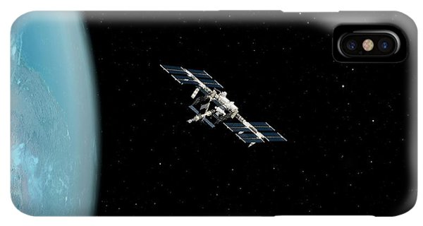 International Space Station iPhone XS Max Case - International Space Station by Sciepro/science Photo Library