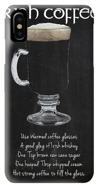 St. Patricks Day iPhone XS Max Case - Irish Coffee by Mark Rogan