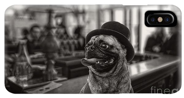 Pug iPhone XS Max Case - Last Call by Edward Fielding