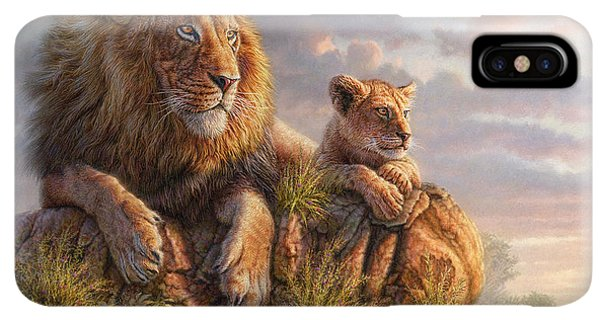Africa iPhone XS Max Case - Lion Pride by Phil Jaeger