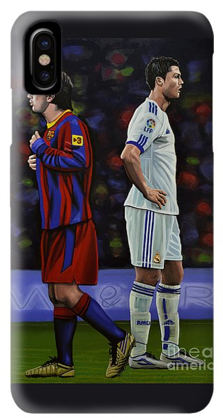 South America iPhone XS Max Case - Lionel Messi And Cristiano Ronaldo by Paul Meijering