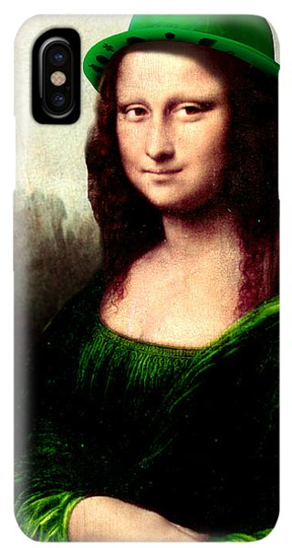 St. Patricks Day iPhone XS Max Case - Lucky Mona Lisa by Gravityx9  Designs